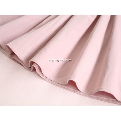 Girl Sleeveless Halter Dress with Ribbon (Pink/Burgundy)