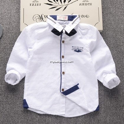 Toddler Boy Shirt with Removable Bow Tie