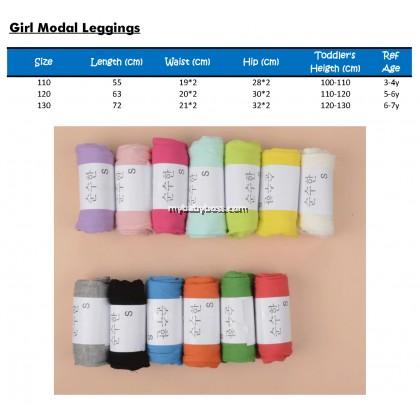 Candy Color Girls Modal Leggings