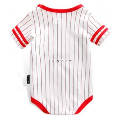 "Cuddle Me ""Dad's Team"" Baseball Baby Romper"