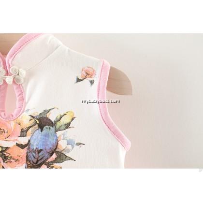 CNY Jixiang Ruyi Girl Cheongsam Tutu Dress