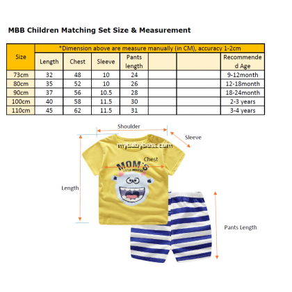 FM00261 Mom's little monster Matching Set (Yellow)