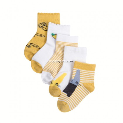 FS301 Hello Bunny Toddler socks