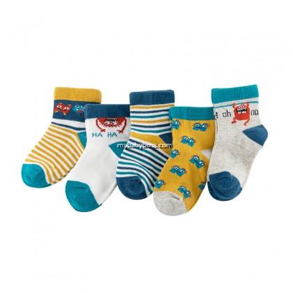 FS307 Naughty Little Monster Toddler socks