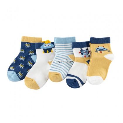 FS308 Robot & UFO Toddler socks