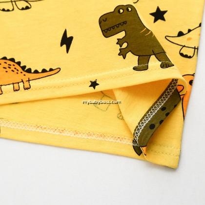 FN310 Yellow Dinosaur Short Sleeve Sleepwear